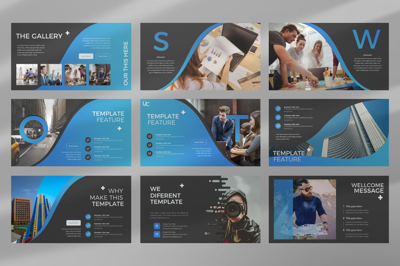 UCorporate Business Google Slide, Slide 5, 07429, Presentation Templates — PoweredTemplate.com