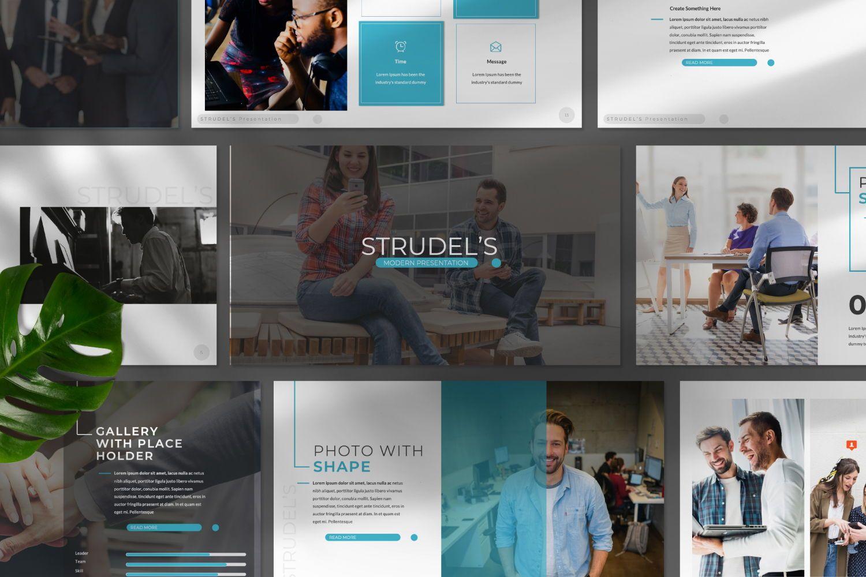 Strudel's Business Keynote, 07430, Presentation Templates — PoweredTemplate.com
