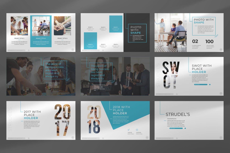 Strudel's Business Keynote, Slide 3, 07430, Presentation Templates — PoweredTemplate.com
