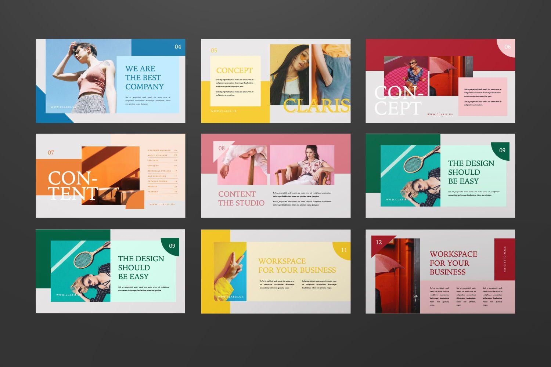 Claris Creative Brand Powerpoint, Slide 2, 07434, Presentation Templates — PoweredTemplate.com