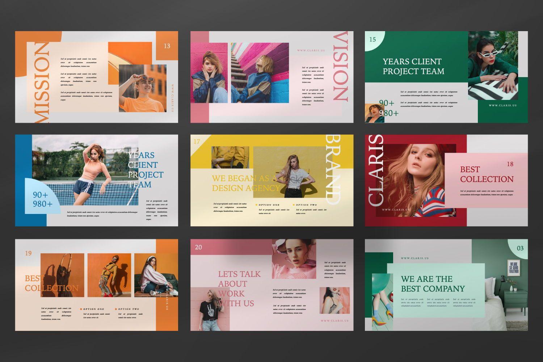Claris Creative Brand Powerpoint, Slide 3, 07434, Presentation Templates — PoweredTemplate.com