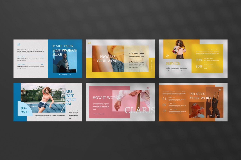 Claris Creative Brand Powerpoint, Slide 4, 07434, Presentation Templates — PoweredTemplate.com