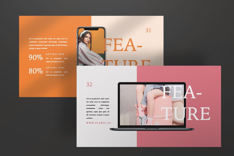 Claris Creative Brand Powerpoint, Slide 5, 07434, Presentation Templates — PoweredTemplate.com