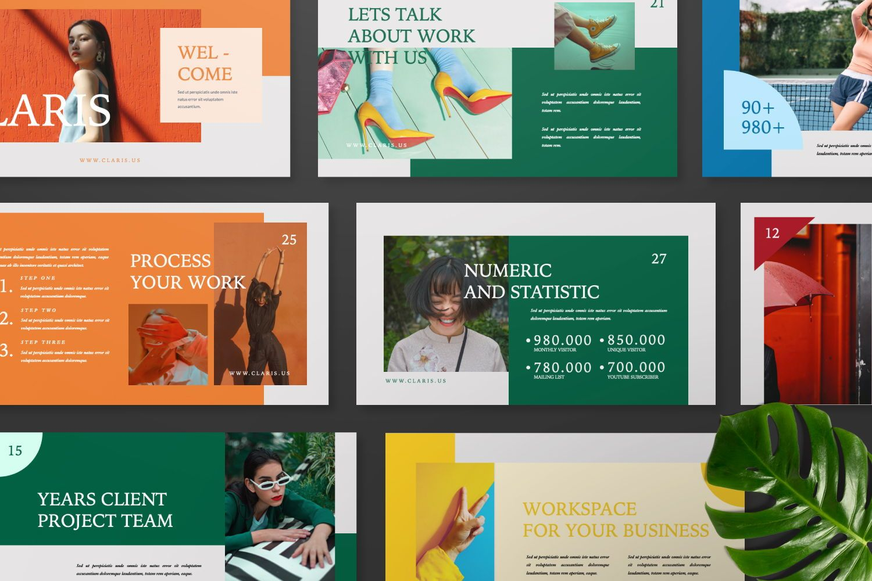 Claris Creative Brand Powerpoint, Slide 6, 07434, Presentation Templates — PoweredTemplate.com