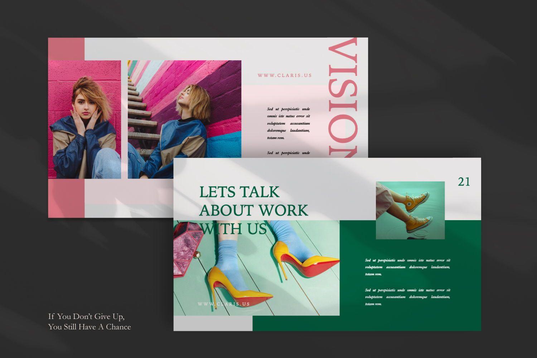 Claris Creative Brand Powerpoint, Slide 7, 07434, Presentation Templates — PoweredTemplate.com