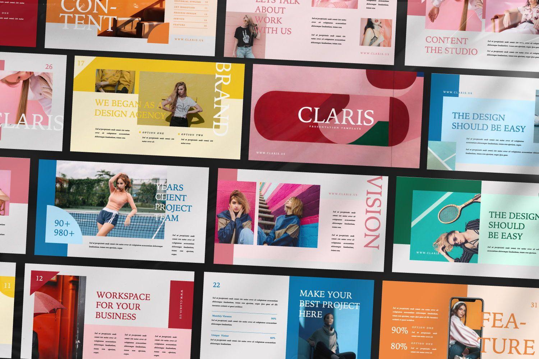 Claris Creative Brand Powerpoint, Slide 8, 07434, Presentation Templates — PoweredTemplate.com