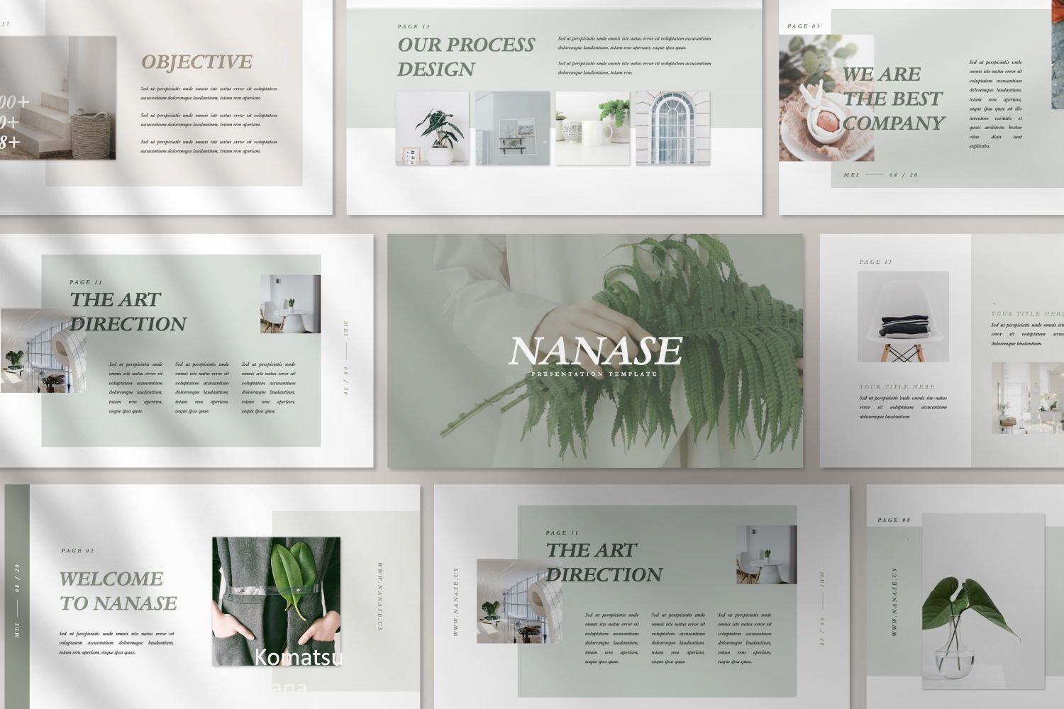 Nanase Creative Powerpoint, 07436, Presentation Templates — PoweredTemplate.com
