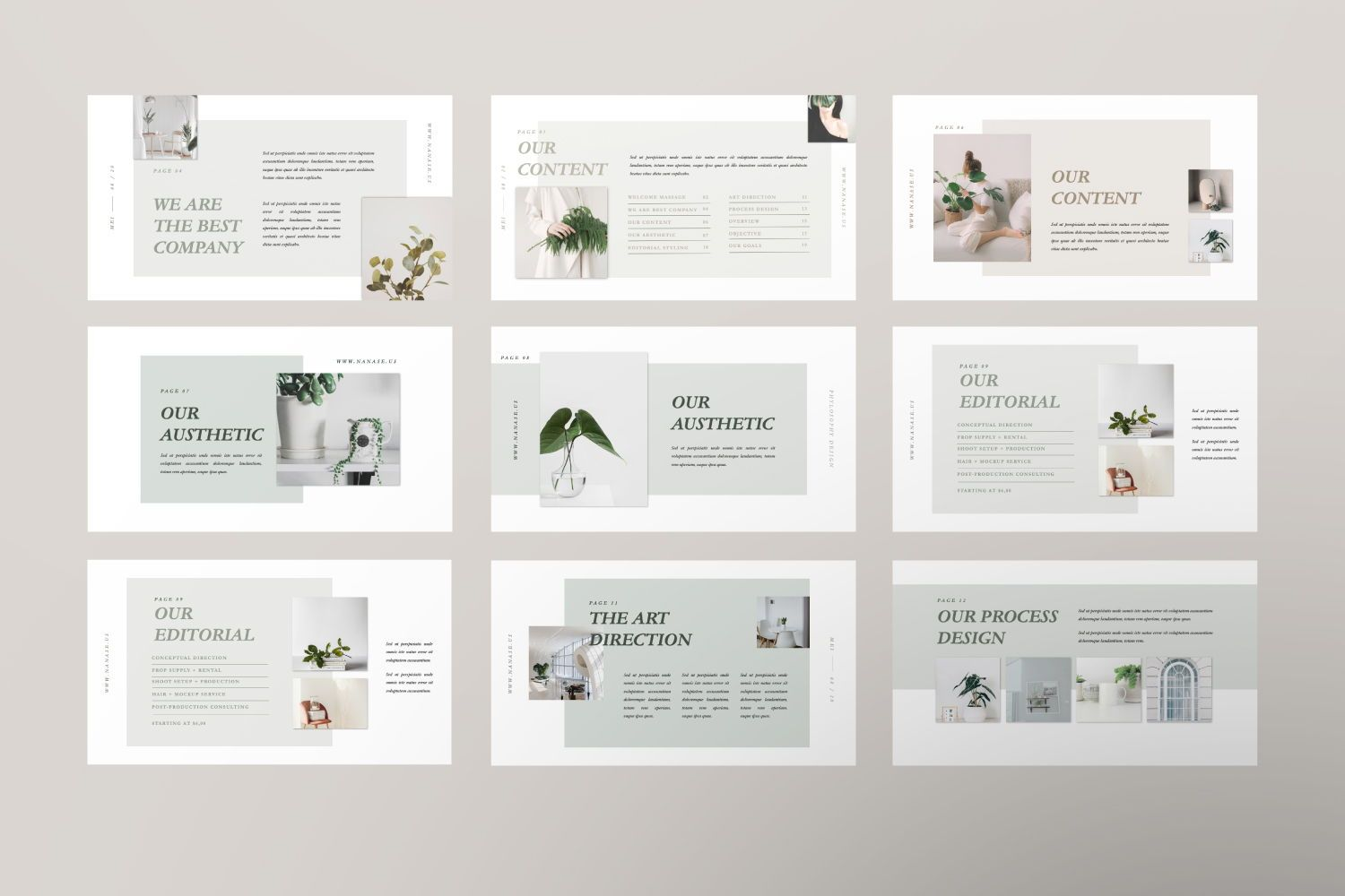 Nanase Creative Powerpoint, Slide 4, 07436, Presentation Templates — PoweredTemplate.com