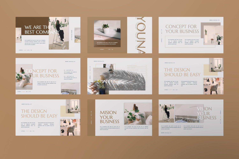 Youna Creative Google Slide, Slide 2, 07437, Presentation Templates — PoweredTemplate.com