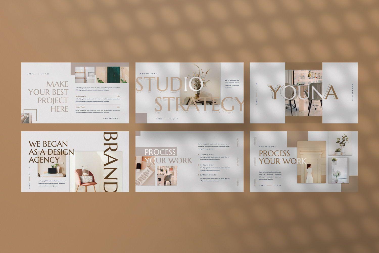 Youna Creative Google Slide, Slide 4, 07437, Presentation Templates — PoweredTemplate.com