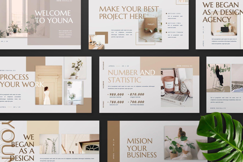 Youna Creative Google Slide, Slide 8, 07437, Presentation Templates — PoweredTemplate.com