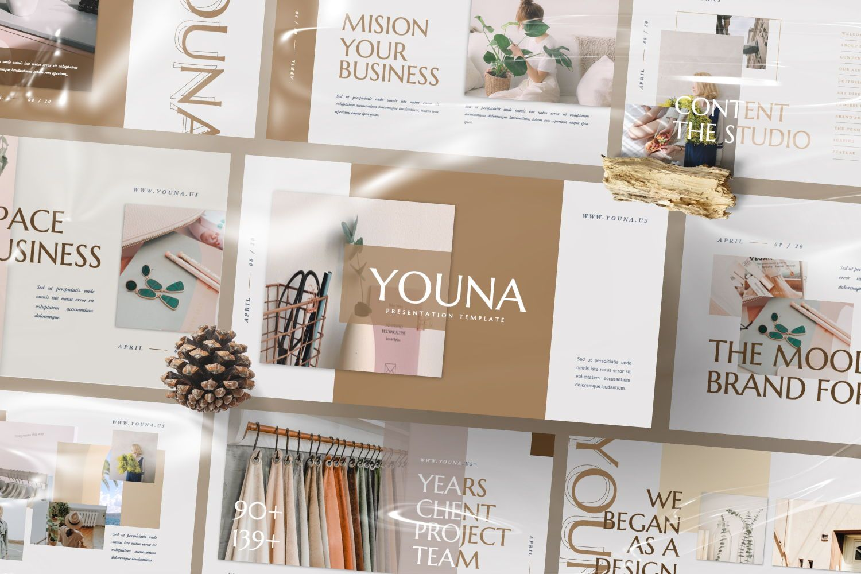 Youna Creative Google Slide, Slide 9, 07437, Presentation Templates — PoweredTemplate.com