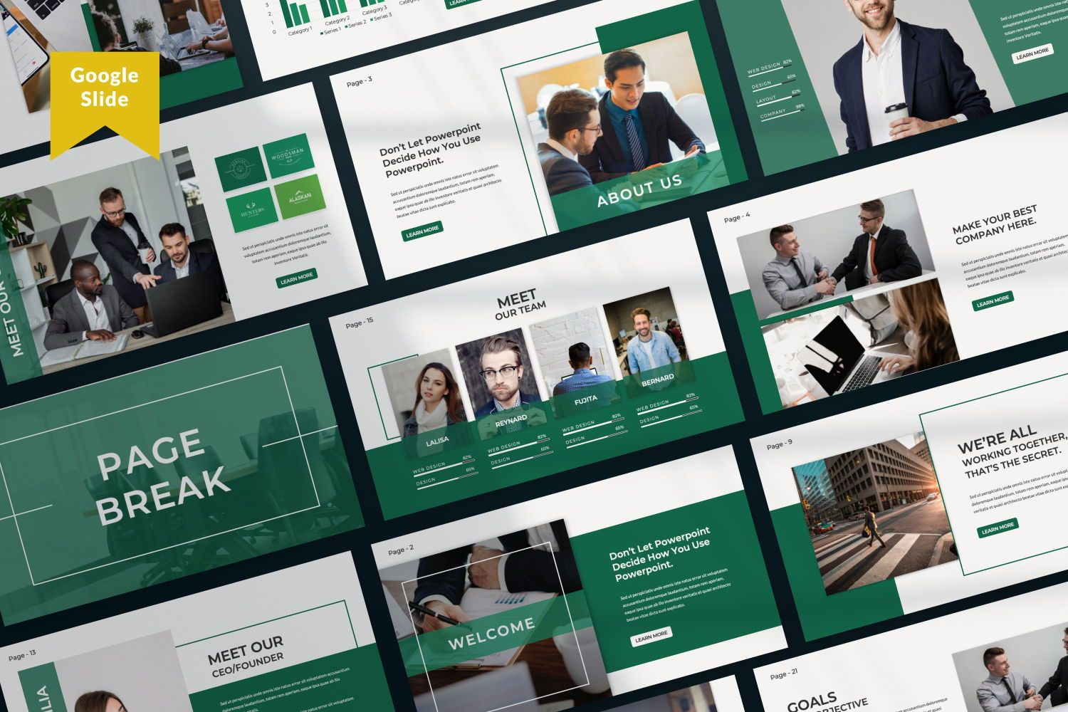 Company Business Google Slide, 07439, Presentation Templates — PoweredTemplate.com