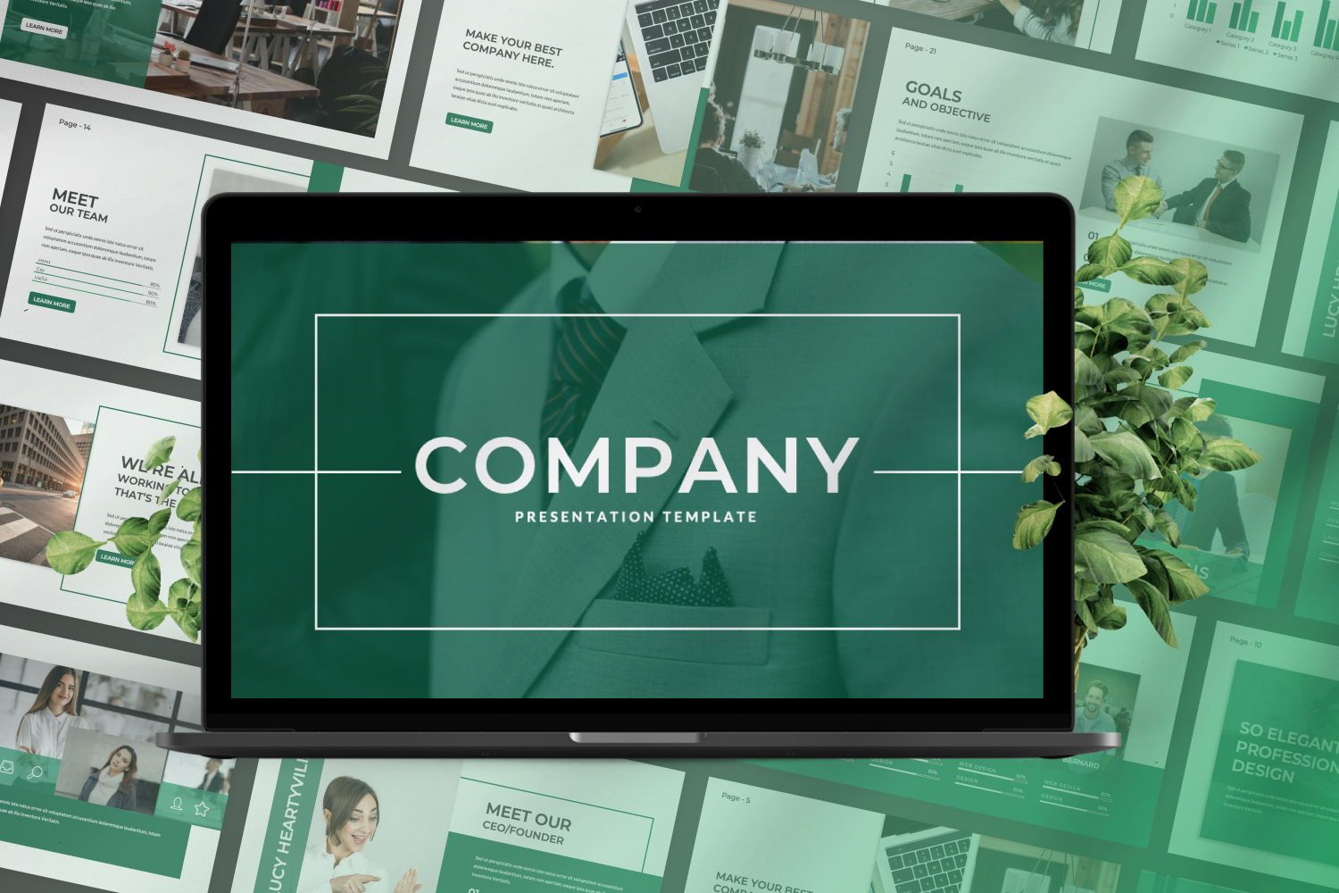 Company Business Google Slide, Slide 2, 07439, Presentation Templates — PoweredTemplate.com