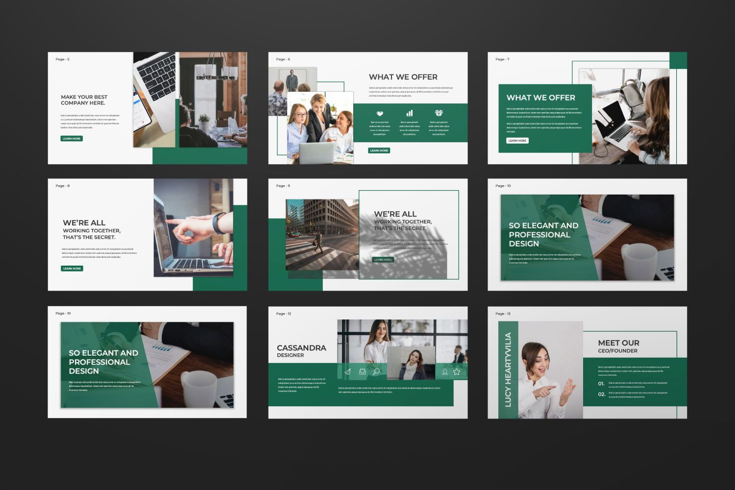 Company Business Google Slide, Slide 4, 07439, Presentation Templates — PoweredTemplate.com