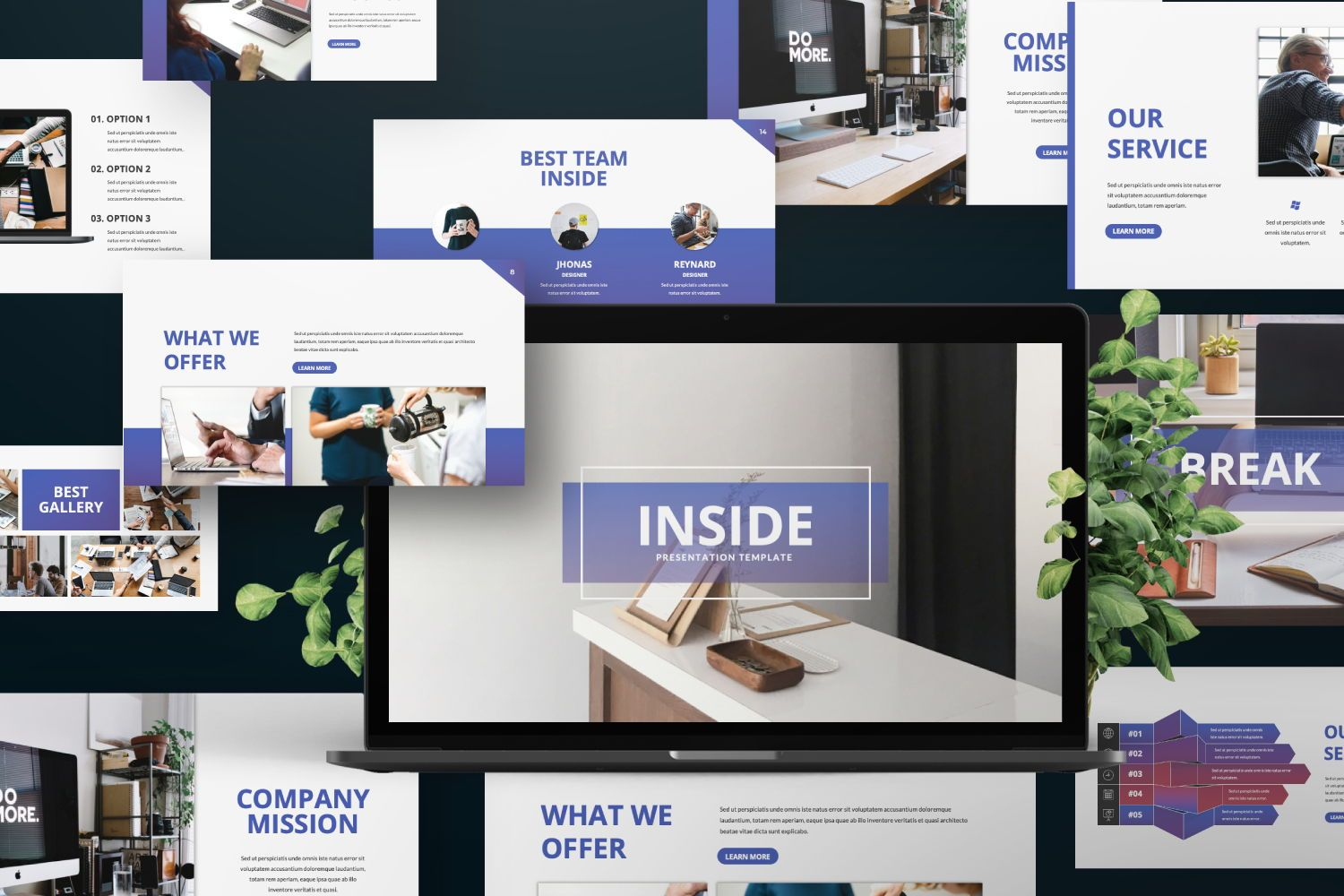 Inside Business Keynote, Slide 8, 07440, Presentation Templates — PoweredTemplate.com