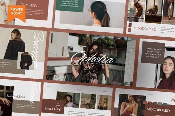 Presentation Templates: Ophelia Brand Powerpoint #07441