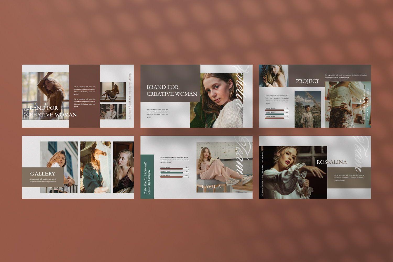 Ophelia Brand Powerpoint, Slide 2, 07441, Presentation Templates — PoweredTemplate.com