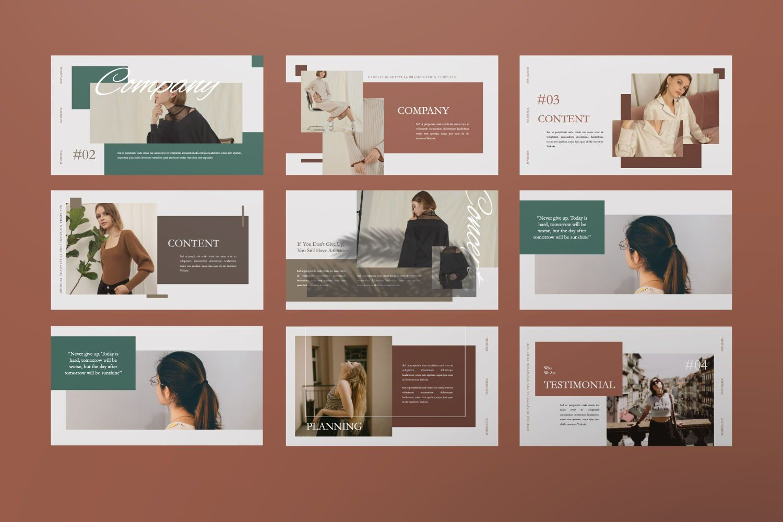 Ophelia Brand Powerpoint, Slide 4, 07441, Presentation Templates — PoweredTemplate.com