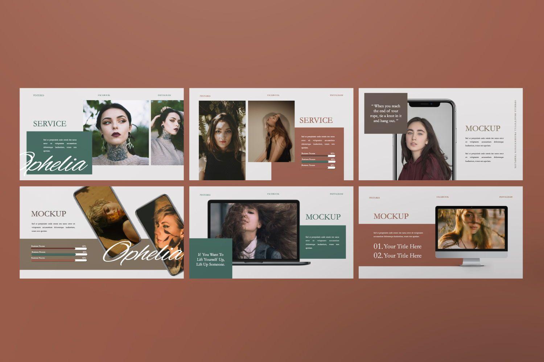 Ophelia Brand Powerpoint, Slide 5, 07441, Presentation Templates — PoweredTemplate.com