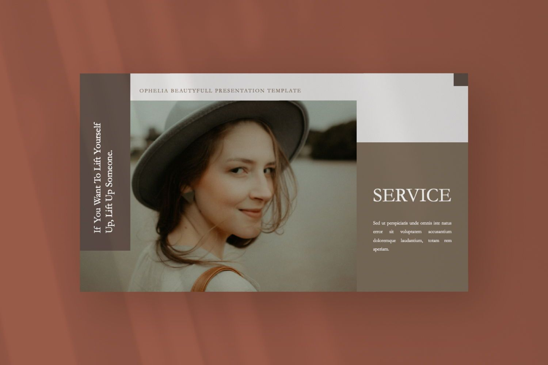 Ophelia Brand Powerpoint, Slide 6, 07441, Presentation Templates — PoweredTemplate.com