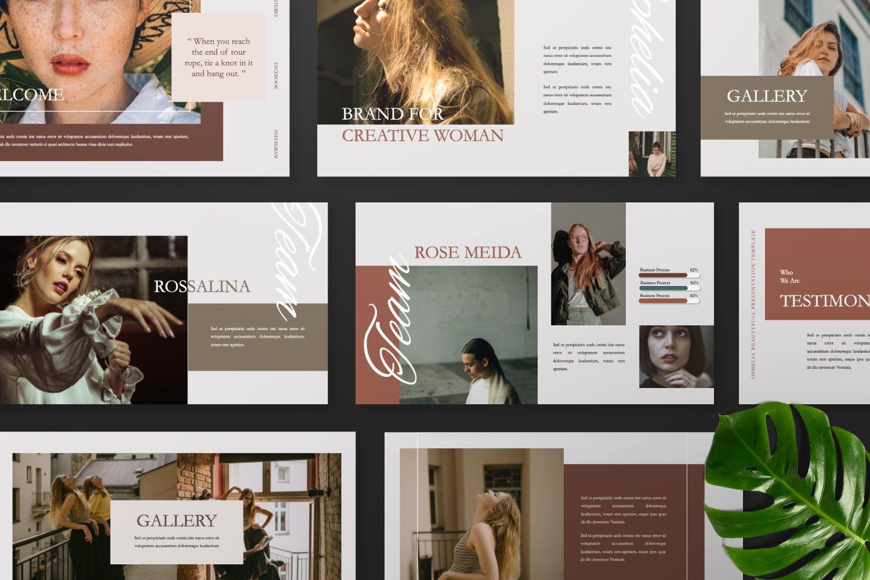 Ophelia Brand Powerpoint, Slide 8, 07441, Presentation Templates — PoweredTemplate.com