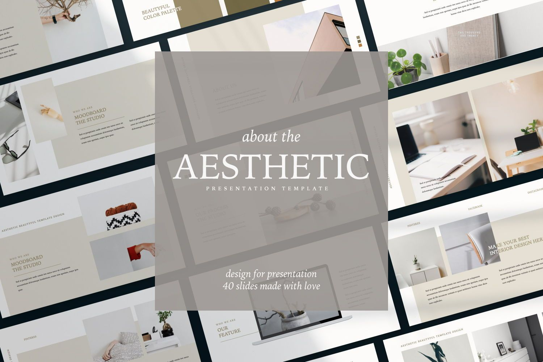 Aesthetic Brand Google Slide, 07442, Presentation Templates — PoweredTemplate.com