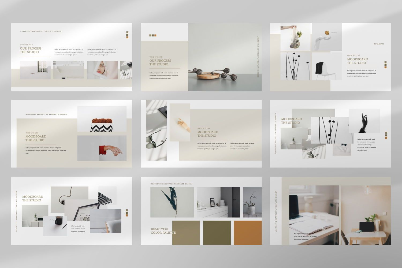 Aesthetic Brand Google Slide, Slide 3, 07442, Presentation Templates — PoweredTemplate.com