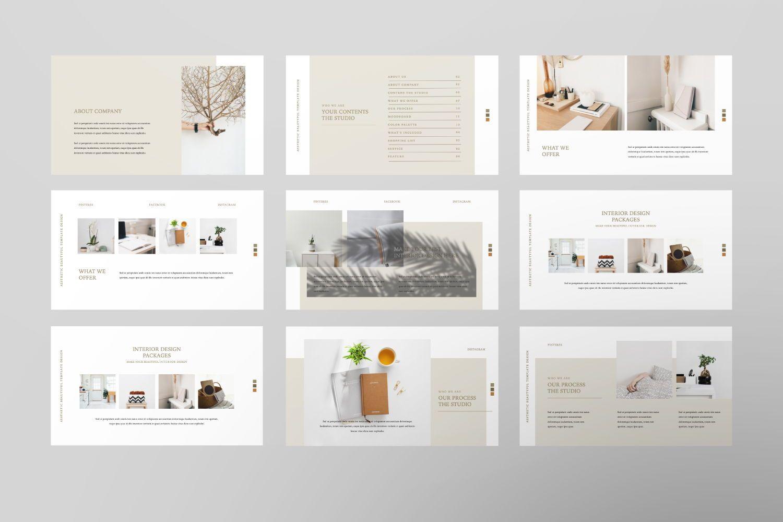 Aesthetic Brand Google Slide, Slide 4, 07442, Presentation Templates — PoweredTemplate.com