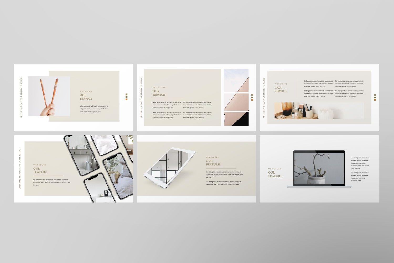 Aesthetic Brand Google Slide, Slide 5, 07442, Presentation Templates — PoweredTemplate.com