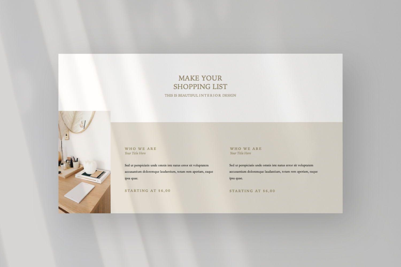 Aesthetic Brand Google Slide, Slide 6, 07442, Presentation Templates — PoweredTemplate.com