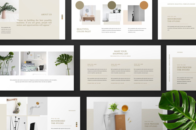 Aesthetic Brand Google Slide, Slide 7, 07442, Presentation Templates — PoweredTemplate.com