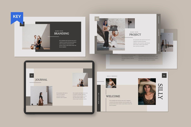 Silly Brand Keynote Template, 07443, Presentation Templates — PoweredTemplate.com