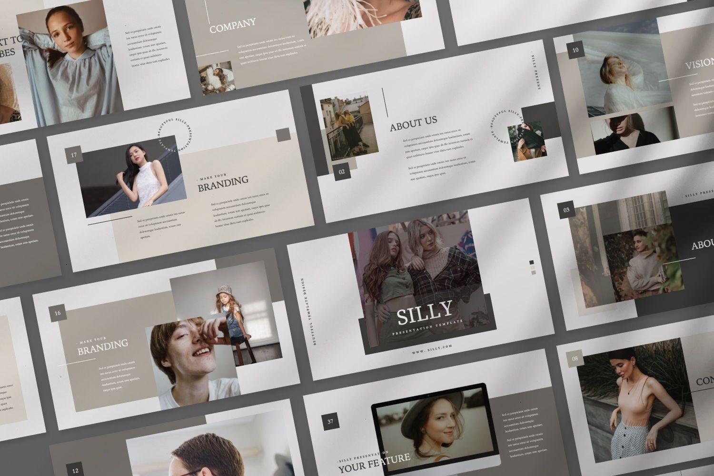 Silly Brand Keynote Template, Slide 3, 07443, Presentation Templates — PoweredTemplate.com