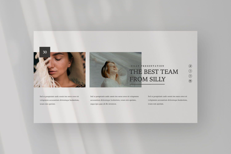 Silly Brand Keynote Template, Slide 8, 07443, Presentation Templates — PoweredTemplate.com