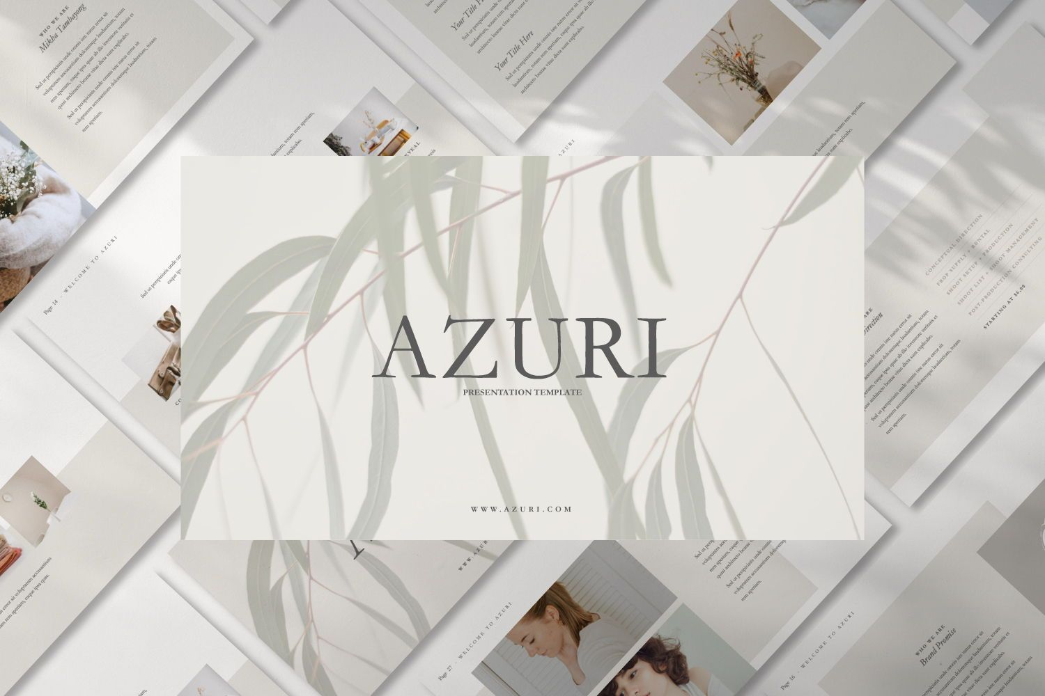 Azuri Creative Powerpoint, 07445, Presentation Templates — PoweredTemplate.com