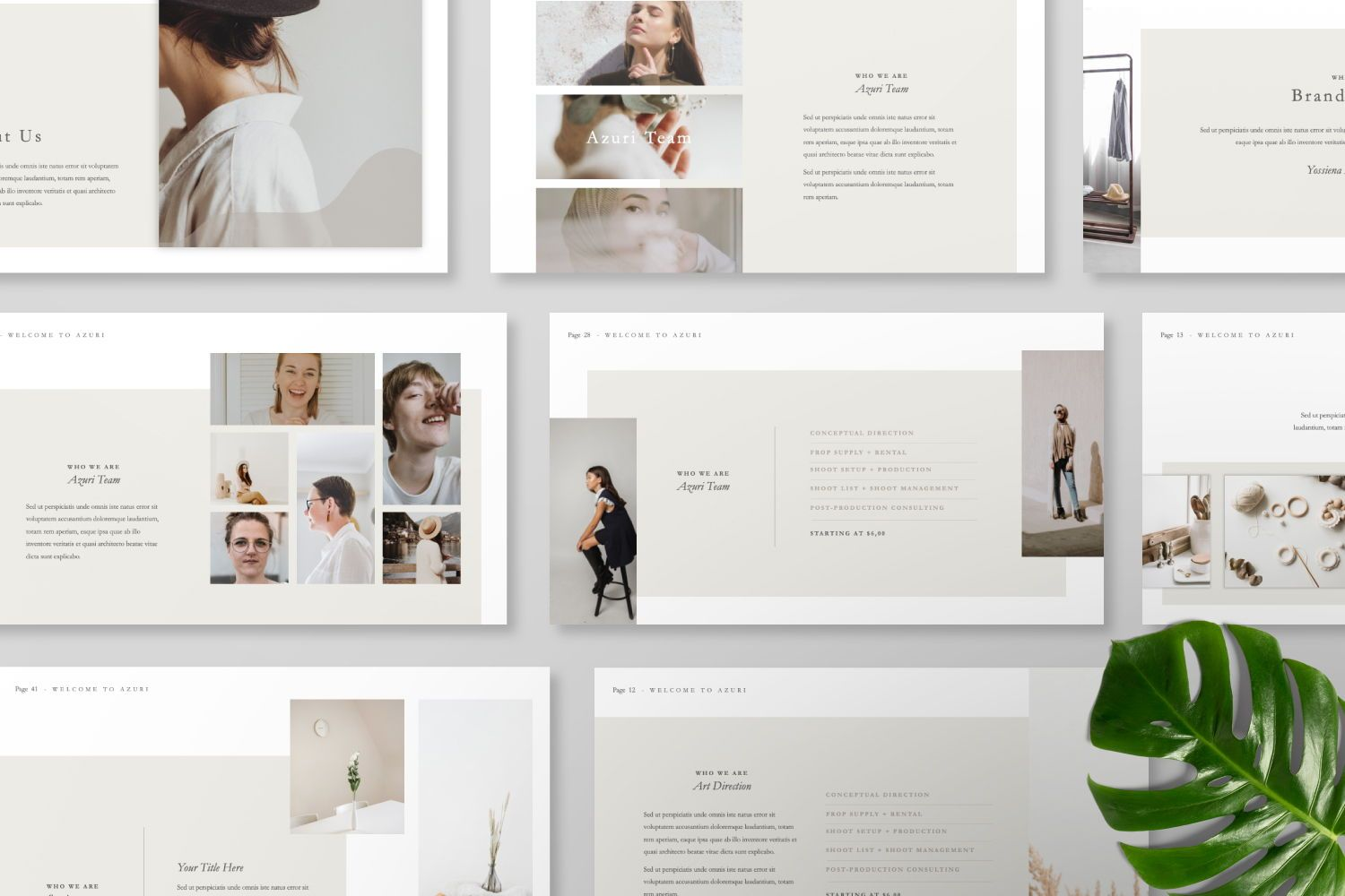Azuri Creative Powerpoint, Slide 7, 07445, Presentation Templates — PoweredTemplate.com