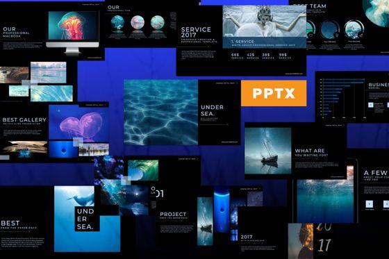 Presentation Templates: Undersea Business Powerpoint #07448