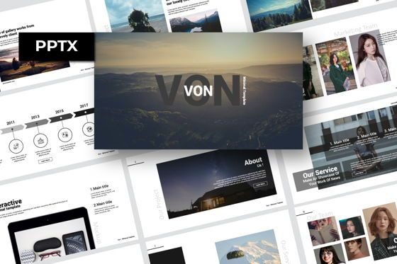 Presentation Templates: Von Creative Powerpoint #07450