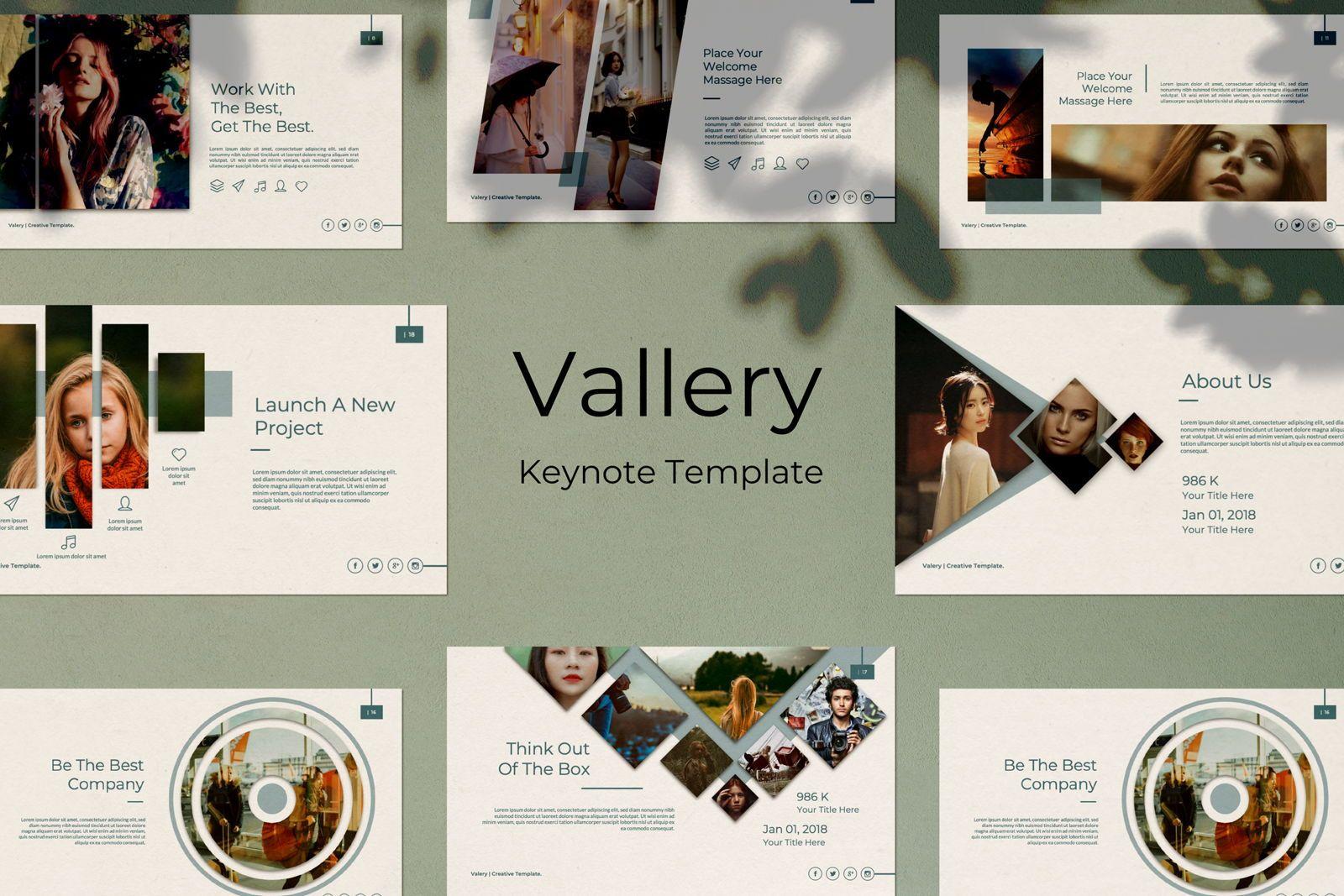 Vallery Business Keynote, 07451, Presentation Templates — PoweredTemplate.com