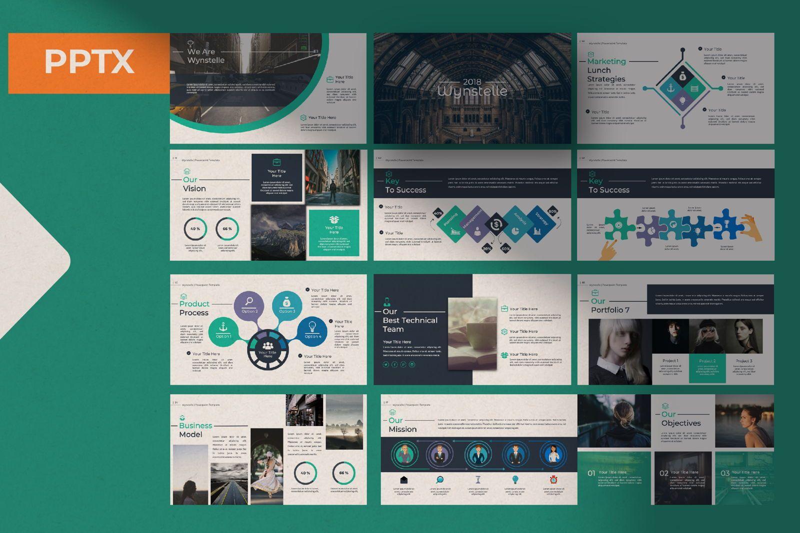 Wynstelle Creative Powerpoint, 07452, Presentation Templates — PoweredTemplate.com