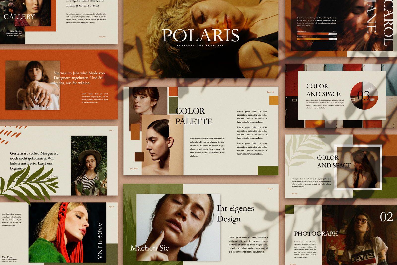 Polaris Creative Keynote, 07454, Presentation Templates — PoweredTemplate.com