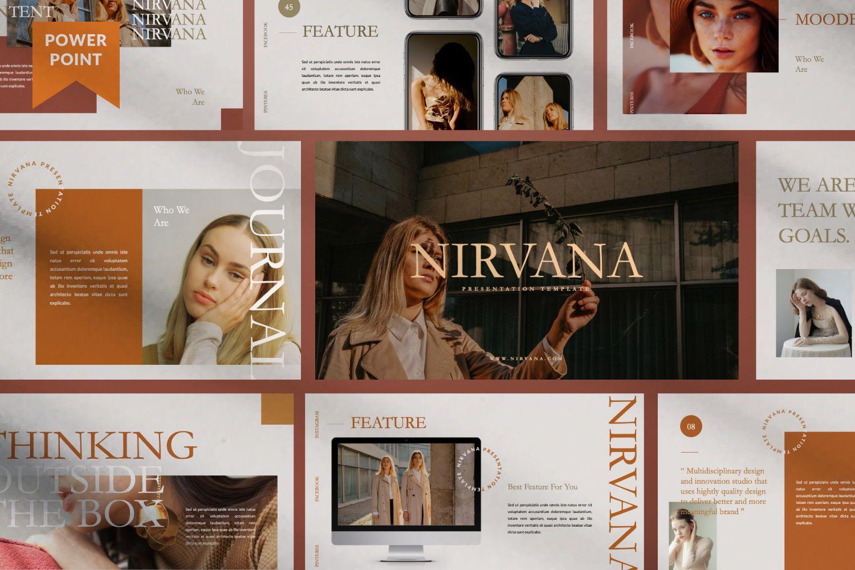 Nirvana Brand Powerpoint, 07456, Presentation Templates — PoweredTemplate.com