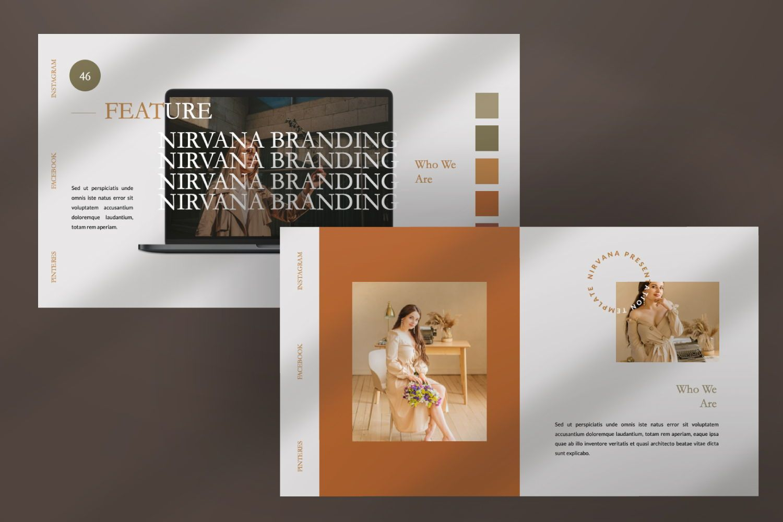Nirvana Brand Powerpoint, Slide 10, 07456, Presentation Templates — PoweredTemplate.com