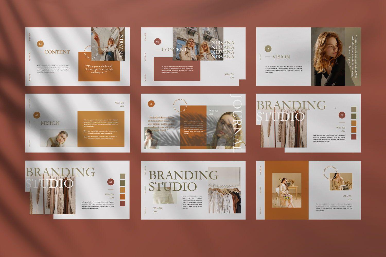 Nirvana Brand Powerpoint, Slide 5, 07456, Presentation Templates — PoweredTemplate.com