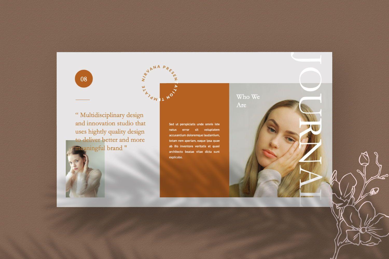 Nirvana Brand Powerpoint, Slide 8, 07456, Presentation Templates — PoweredTemplate.com