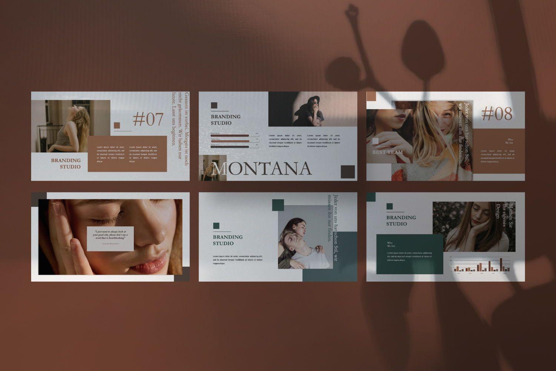 Montana Brand Google Slide, Slide 2, 07457, Presentation Templates — PoweredTemplate.com