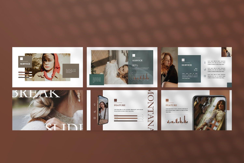 Montana Brand Google Slide, Slide 3, 07457, Presentation Templates — PoweredTemplate.com