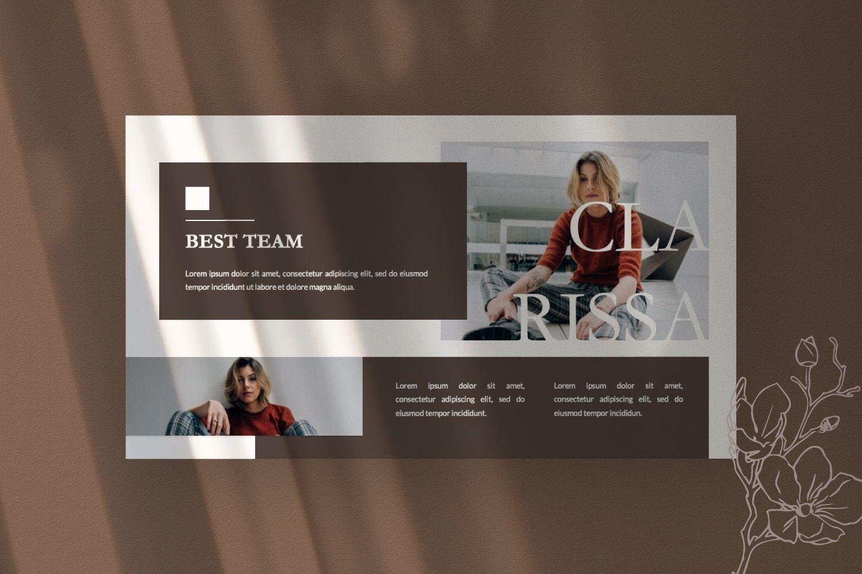 Montana Brand Google Slide, Slide 6, 07457, Presentation Templates — PoweredTemplate.com