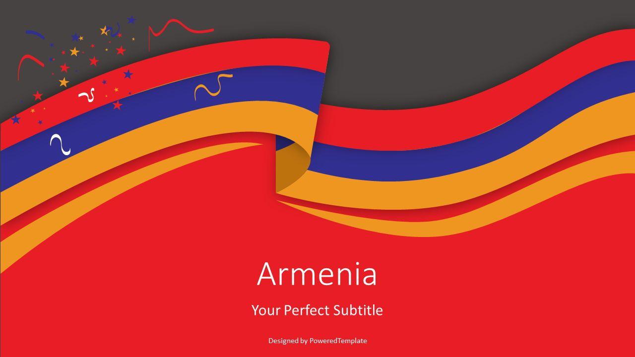 Armenia Flag Cover Slide, Slide 2, 07458, Presentation Templates — PoweredTemplate.com